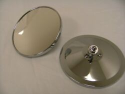 1947 - 1972 Chevy Truck Pickup 5 Round Smooth Outside Exterior Mirror Pair New