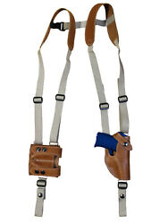 New Barsony Tan Leather Shoulder Holster Mag Pouch Sig Walther Ultra Comp 9 40