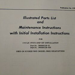 Hughes 500d 369d Cyclic Stick Grip 369h90129 Install Service And Parts Booklet