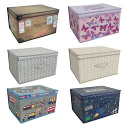 2 X Large Clothes Laundry Bedding Toy Storage Boxes Childrens Kids Chest Tidy