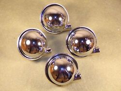Set Of 4 Chrome Furniture Casters Vintage Mid Century Modern Made By Shepherd