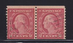 491 Pair F-vf Used Neat Cancel Pf Cert. Rich Color Cv 3750 See Pic