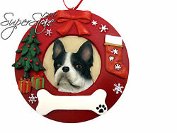 E&S Pets Boston Terrier Personalized Christmas Ornament
