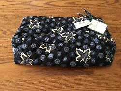 Vera Bradley large cosmetic bag Blue Coin pattern retired NWT!