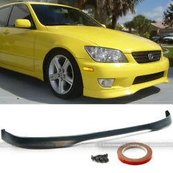Fits 01 05 IS300 Type R Style Urethane PU Front Bumper Chin Lip Spoiler BodyKit