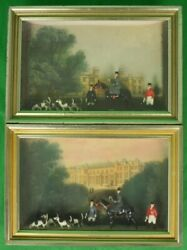 Castle Ashby Northamptonshire Britains Diorama Fox-hunt Shadow Boxes 2 Available