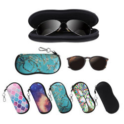 Portable Glasses Case with Carabiner Hook Eyeglasses Sleeve Pouch Travel Bag $8.49
