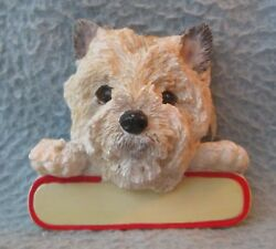 WESTIE WEST HIGHLAND TERRIER DOG CHRISTMAS ORNAMENT