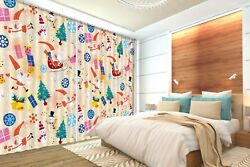 3d Christmas Element 62 Blockout Photo Curtain Printing Drapes Fabric Window Ca