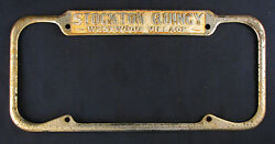 License Plate Frame Stockton Quincy Westwood Village Ford Dealer LA California