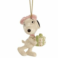 Lenox Peanuts Belle's Surprise Ornament Snoopy Sister Beagle Christmas Gift NEW