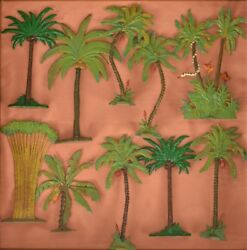 Set Of 10 Hand-painted Britains Palm Trees