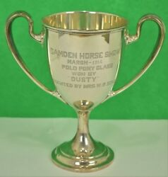 Camden Horse Show March 1912 Polo Pony Class Sterling Trophy Won By And039dustyand039