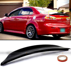 For 08-15 Lancer Evo X 10 Glossy Black Rs Style Rear Duck Trunk Wing Lip Spoiler