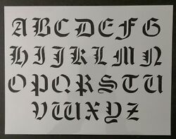 Old Olde English Font Alphabet 11quot; x 8.5quot; Custom Stencil FAST FREE SHIPPING