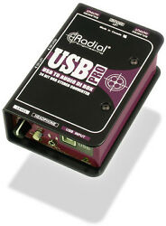New Radial Engineering USB-Pro Digital Stereo DI with Level Control for Laptops