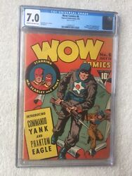 Wow Comics 6 Cgc 7.0 Fawcett July 1942 Golden Age And Free Full Color Photocopy.