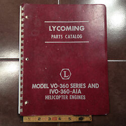 Lycoming Vo-360 And Ivo-360-a1a Engine Parts Manual