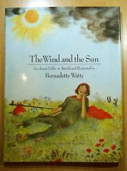 The Wind And The Sun An Aesop Fable Illustrated By Bernadette Watts 1992 Hc Dj