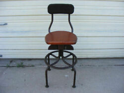Old Western Electric Telephone Operator Chair With A Wood Seat