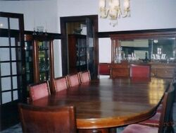 Dining Table Antique Mahoganyandnbsp 60 Wide. 15and039 Long W 12 Leaves Makes A 60 Round