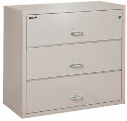 Fire Resistant File Cabinet - 3 Drawer Lateral 44