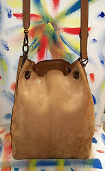 Marni Taupe Suede-&-Leather 2-Bags-in-1 Crossbody Bucket Shoulder Bag $1850