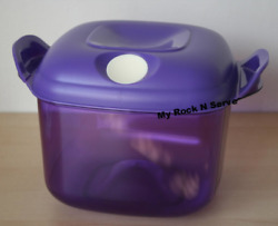 Tupperware Square Heat N Serve Microwave Container 8 Cup Purple New