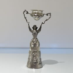 19th Century Antique 800 Standard Silver Wager/marriage German Circa 1885