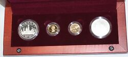 1996 Smithsonian Commemorative 4 Coin Gold And Silver Set Bu And Proof In Ogp Jah