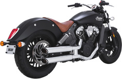 Vance And Hines Twin Slash Slip-ons For Indian 18623 Chrome 3 In.