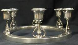 Antique Black Starr And Gorham Circular Centerpiece Stering Silver Candle Holder