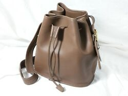 Coach Bucket Bag  Purse Lula's Legacy Taupe Drawstring Bag in Unused Condition