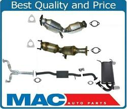 Full Exhaust System Left Right Converters Y Pipe Muffler For Infiniti G35 05-07