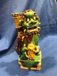 Very Rare! Qing Dynasty Hand Made Guardian Lion With Protruding Eyes! $200K Val!