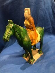 Tang Dynasty C.7th Century Handmade Equestrian Clay Sculpture!!  $600K Value!!