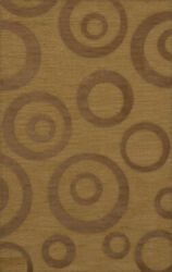 Yellow Transitional Bubbles Rings Area Rug Circles Dv5
