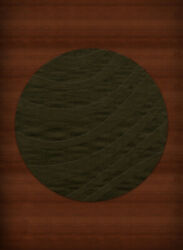 Green Transitional Hand Hooked Swirls Stripes Lines Area Rug Abstract Dv12