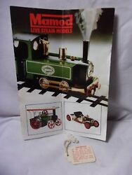 Mamod Steam Engine Model Vintage Advertising Product Brochure And Oil Tag
