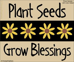 New-plant Seeds Grow Blessingsblock Stencils-diy Upaint Spring Flowers Garden