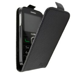 Caseroxx Flip Cover For Alcatel 2008g In Black Made Of Faux Leather