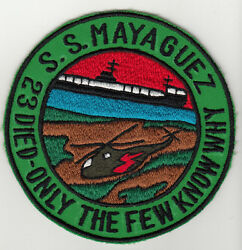 Wartime Us Navy Ss Mayaguez Patch / 23 Died Few Know Why 1491