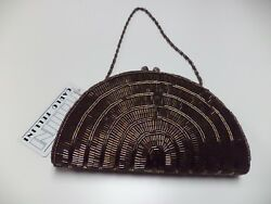 CARLO FELLINI NWT Bronze Satin Embellished Evening Bag W Detachable Straps B4323