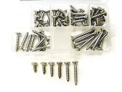 10 Stainless Steel Oval Phillips Head Automotive Sheet Metal Trim Screws Chevy