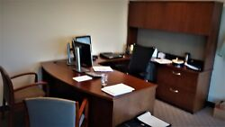 Excellent Condition Complete Private Office U-shaped Suites W/ Seating