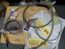 Nos La Choppers Standard Braided Stainless Handlebar Cable Brake Kit 0610-0431