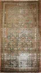 Genuine Hand Knotted Authentic Antique Distressed Gallery Rug. 5'2x 9'7