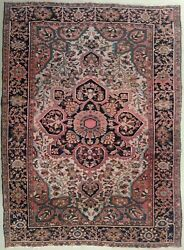 Genuine Hand Knotted Authentic Antique Rug. 3and0399x 4and03910
