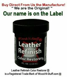 BLUE 4oz LEATHER Refinish Color RESTORER TM ~ We are the Original! ~ REFILL