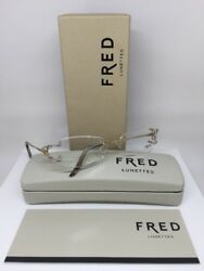 New Authentic FRED Lunettes Volute Optique Eyeglasses F2 Bicolore Made In France $895.00